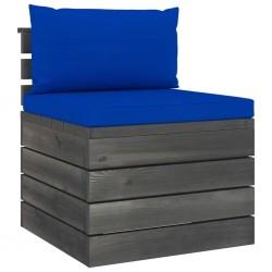 stradeXL Ogrodowa sofa środkowa z palet, z poduszkami, drewno sosnowe