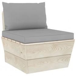 stradeXL Ogrodowa sofa środkowa z palet, poduszki, impregnowany świerk