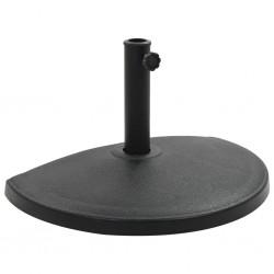 stradeXL Parasol Base Half Round Polyresin 15 kg Black