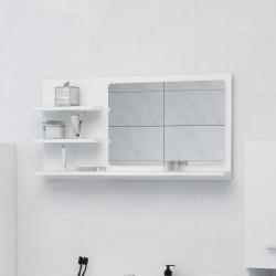 stradeXL Lustro łazienkowe, białe, 90x10,5x45 cm, płyta wiórowa