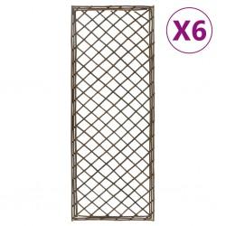 stradeXL Kratki ogrodowe, 6 szt., 30x170 cm, wierzba