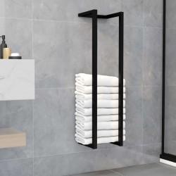 stradeXL Stojak na ręcznik, czarny, 25x20x95 cm, żelazny