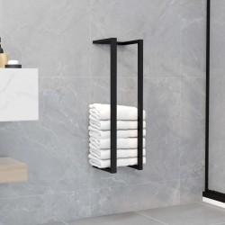 stradeXL Stojak na ręcznik, czarny, 12,5x12,5x60 cm, żelazny