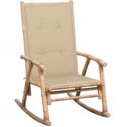 stradeXL Fotel bujany z poduszką, bambusowy
