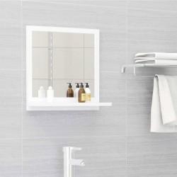 stradeXL Lustro łazienkowe, białe, 40x10,5x37 cm, płyta wiórowa