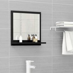 stradeXL Lustro łazienkowe, czarne, 40x10,5x37 cm, płyta wiórowa