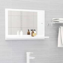 stradeXL Lustro łazienkowe, białe, 60x10,5x37 cm, płyta wiórowa