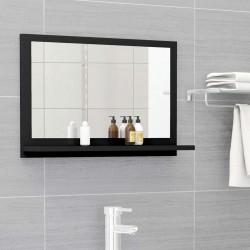 stradeXL Lustro łazienkowe, czarne, 60x10,5x37 cm, płyta wiórowa