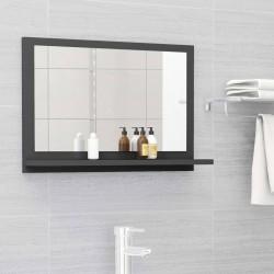 stradeXL Lustro łazienkowe, szare, 60x10,5x37 cm, płyta wiórowa