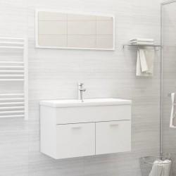 stradeXL 2-częściowy zestaw mebli łazienkowych, biały, płyta wiórowa