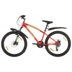 stradeXL Rower górski, 21 przerzutek, koła 26'', rama 42 cm, czerwony