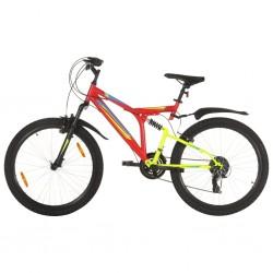 stradeXL Rower górski, 21 przerzutek, koła 26'', rama 49 cm, czerwony