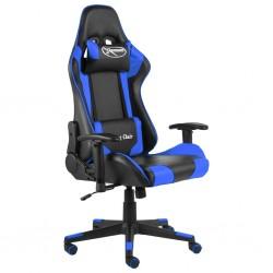 stradeXL Obrotowy fotel gamingowy, niebieski, PVC