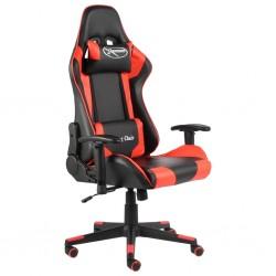 stradeXL Obrotowy fotel gamingowy, czerwony, PVC