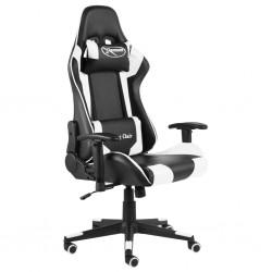 stradeXL Obrotowy fotel gamingowy, biały, PVC