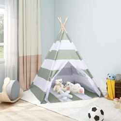 stradeXL Namiot dziecięcy tipi, torba, peach skin, paski, 120x120x150cm