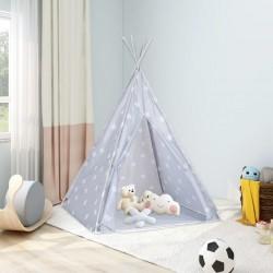 stradeXL Namiot tipi dla dzieci, torba, poliester, szary, 115x115x160 cm