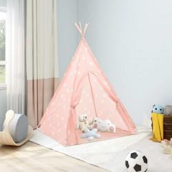 stradeXL Dziecięcy namiot tipi, z torbą, poliester, róż, 115x115x160 cm