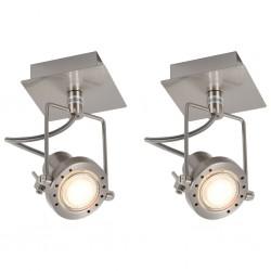 stradeXL Reflektory, 2 szt., srebrne, GU10