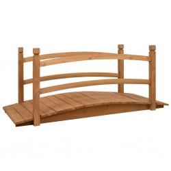 stradeXL Mostek ogrodowy, 140x60x60 cm, lite drewno jodłowe