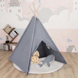 stradeXL Szary namiot dziecięcy tipi, z torbą, peach skin, 120x120x150cm