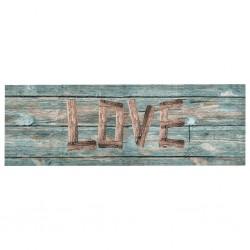 stradeXL Kuchenny dywanik podłogowy Love, 60x300 cm