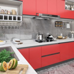 stradeXL Okleiny meblowe samoprzylepne, 2 szt., czerwone, 500x90 cm, PVC