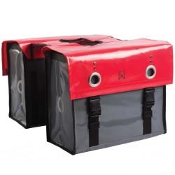 Willex Sakwy rowerowe Tarpaulin, 52 L, czerwono-ciemnoszare