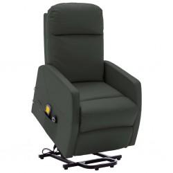 stradeXL Podnoszony, rozkładany fotel masujący, antracytowy, ekoskóra