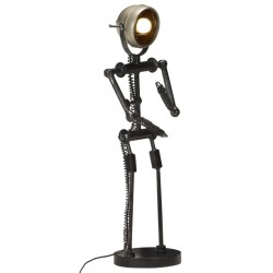 stradeXL Lampa stojąca w kształcie postaci z głową z reflektora, E27