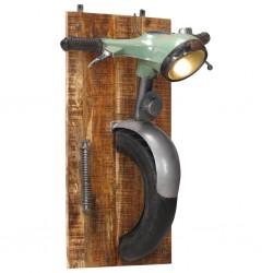 stradeXL Lampa ścienna stylizowana na skuter, żelazo i lite drewno mango