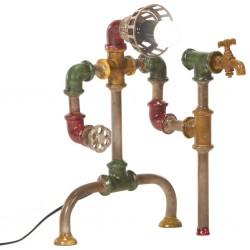 stradeXL Stojąca lampa z rur w industrialnym stylu, żelazo