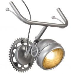 stradeXL Lampa ścienna z częściami motocyklowymi, żelazo