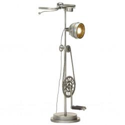 stradeXL Lampa podłogowa w kształcie motocykla, żelazo