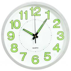 stradeXL Fluorescencyjny zegar ścienny, biały, 30 cm