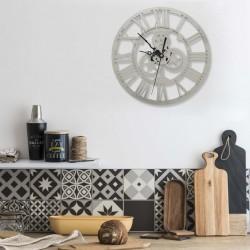 stradeXL Zegar ścienny, srebrny, 30 cm, akrylowy