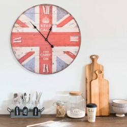 stradeXL Zegar ścienny w stylu vintage, z flagą UK, 60 cm