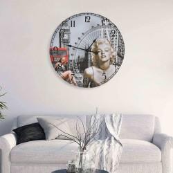 stradeXL Zegar ścienny w stylu vintage Marilyn Monroe, 60 cm