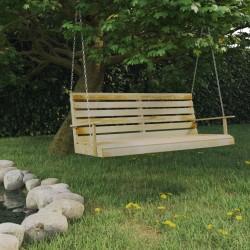 stradeXL Huśtawka ogrodowa, impregnowane drewno sosnowe, 155x65x60 cm