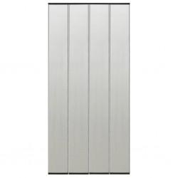 stradeXL Moskitiera na drzwi, 4-panelowa, czarna, 120x240 cm