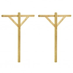 stradeXL Słupki do suszarki ogrodowej, 2 szt., 120x170cm, drewno sosnowe