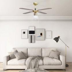 stradeXL Wentylator sufitowy z lampą, 106 cm, brązowy