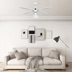 stradeXL Wentylator sufitowy z lampą, 106 cm, biały