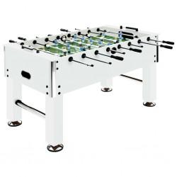 stradeXL Stół do gry w piłkarzyki, stal, 60 kg, 140x74,5x87,5 cm, biały