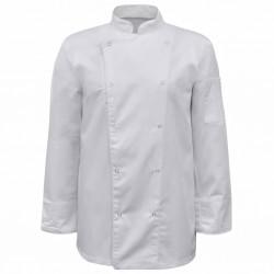 stradeXL Bluzy kucharskie z długim rękawem, 2 szt., rozmiar XL, białe