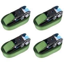 stradeXL Pasy mocujące z napinaczami, 4 szt., 800 daN, 6 m, zielone