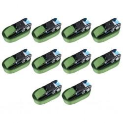 stradeXL Pasy mocujące z napinaczami, 10 szt., 800 daN, 6 m, zielone