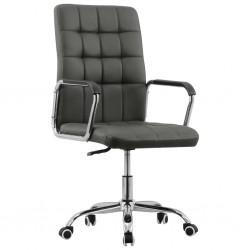 stradeXL Obrotowe krzesło biurowe, antracytowe, tapicerowane tkaniną