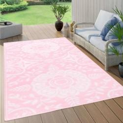 stradeXL Dywan na zewnątrz, różowy, 120x180 cm, PP
