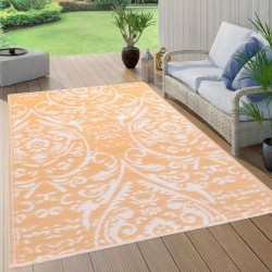 stradeXL Dywan na zewnątrz, pomarańczowo-biały, 160x230 cm, PP